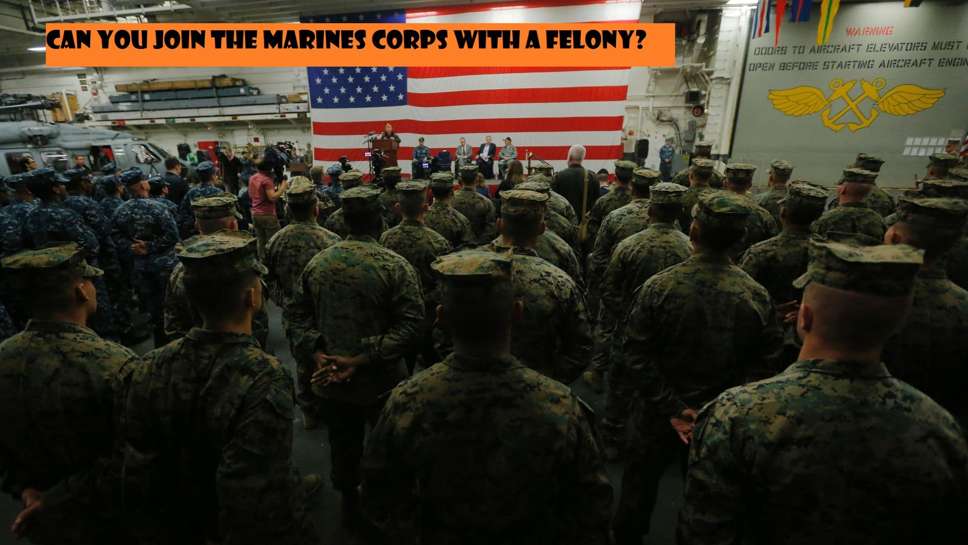 does marine corps accept felons