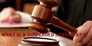 What is a suspended sentence for felony