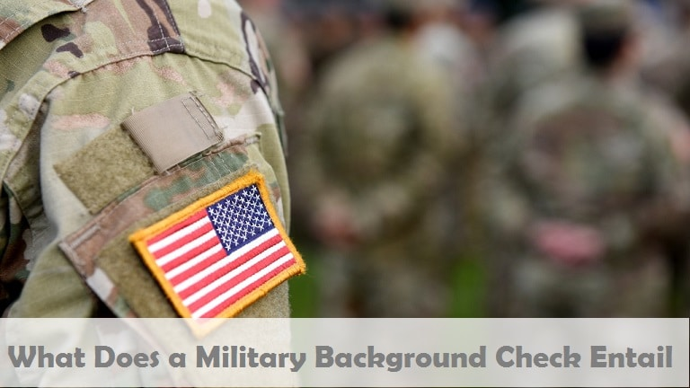 What Does a Military Background Check entails